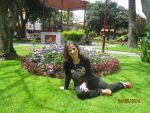 The Real me Posing in a garden by Natalia-Clark