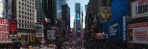 Times Square Big Stairs View 2 by TheSpazOutLoud