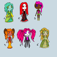 Adoptable Chibies by DrownedInHate