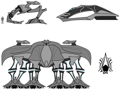 Flux Ascendancy Vehicles by CommodoreHorton