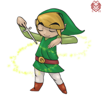 Wind Waker Link by LycanthropeHeart