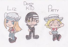 Kid, Liz, and Patty by A-bob