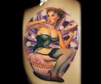 pinup by redliontattoo