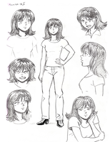 Melinda Cooper Character Concept Sketch by Heliotroph