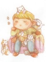 Jawn The King Of Kittens by luckynesu