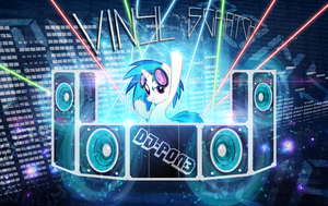Vinyl Scratch (DJ-PON3) Wallpaper by MLArtSpecter