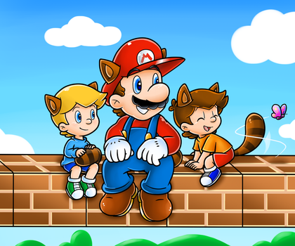 Hangin' With dah Boys by Nintendrawer
