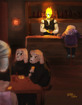 Grillby's Undertale by risaphia