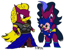 Valkyries and Ziggy by trinityweiss