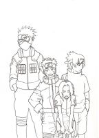 previous team 7: lineart by sharingandevil