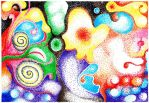 abstract pointillism by carlbert