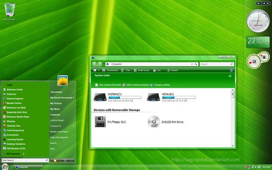 Vista Live Green for XP by sagorpirbd