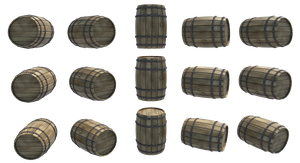 Wooden Barrels 1, PNG by fumar-porros