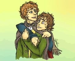 Merry and Pippin by BanjoHayworth