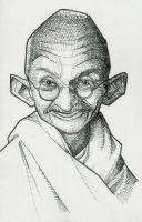 Ghandi Caricature by j0epep