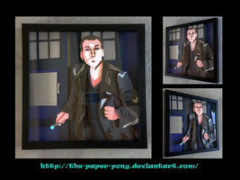 Commission:  9th Doctor Shadowbox by The-Paper-Pony
