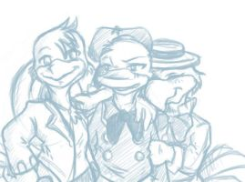 Panchito, Donald and Jose by aristide