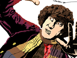 The Fourth Doctor - Tom Baker by flamingcog