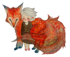 Fox and Girl by suuushi