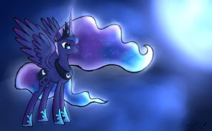 Princess Luna +practice by perry99