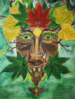 Green Man - Autumn by Tricia-Danby