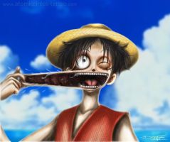 Luffy Digital Drawing ( quick repaint ) by AtomiccircuS