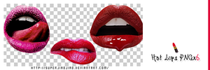 Hot Lips PNGx6 by superjiaojiao