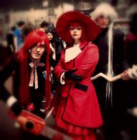 Shinigami: Undertaker, Madame Red and Grell. by HisuiSensei
