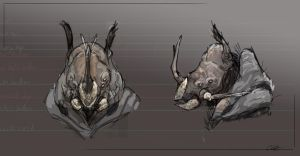 Rhinoceros Beetle Rhino Sketch by Cryoprime