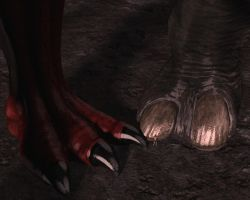 Giant monster feets by Spino2006