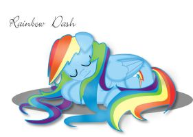 Good night, Rainbow Dash by Anriam