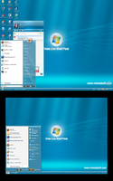 Vista Live ShellPack 2.51 blue by Niwradsoft
