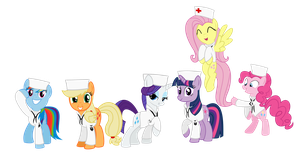 Mane 6 US-Navy by BRONYVAGINEER