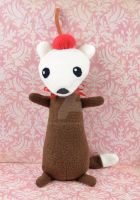 Root Beer Stoat Plush by SewDesuNe