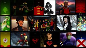 Young Justice Collage by Shekster