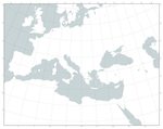 Blank Map of Europe and North Africa (clean) by Kuusinen