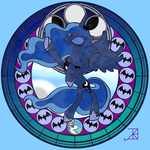 Stained Glass: princess Luna by astarthatcantbeseen