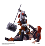 Harley Quinn vs Typhoid Mary full color by chou-roninx