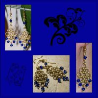 Japanese Chainmaille Earrings by Zsamo