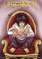 DEATHNOTE: L is a god by Raykosen