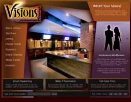 Visions Restaurant Interface by gemalynn