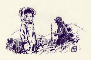 kid vs zilla by MikkelSommer