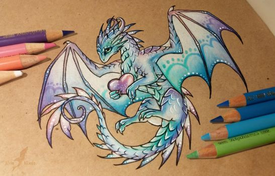 Magic love dragon by AlviaAlcedo