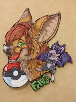 Skarletfang pokemon badge commission by nightspiritwing