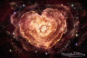 Nebula of Loving Hearts by mary-petroff