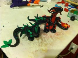Element Clay Dragons by Nightsevera
