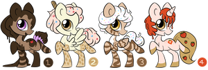 My Little Pony dessert adopts (Closed) by MesmeroAdopts