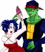 DBZ OC - Piccolo's date by Fatenight