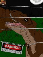 Jurassic Park T-REX Escape! by TheOneTrueSirCharles