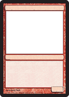 MTG Blank red card. by GrowlyDave